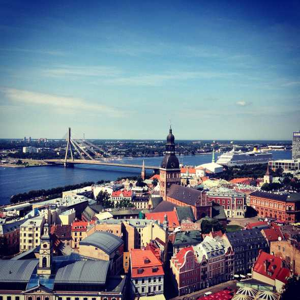 It's possible to find nice views in Riga